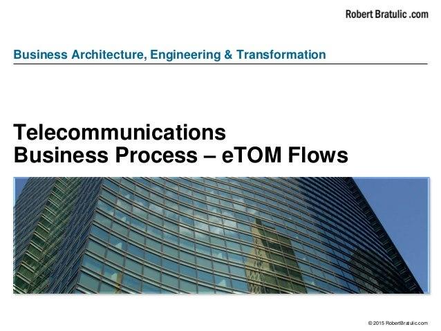 © 2015 RobertBratulic.com Telecommunications Business Process – eTOM Flows Business Architecture, Engineering & Transforma...