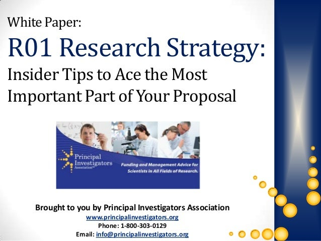 white paper research proposal Army research office funding opportunities/baas  funding opportunities/baas prospective offerors contemplating submission of a white paper or proposal are.