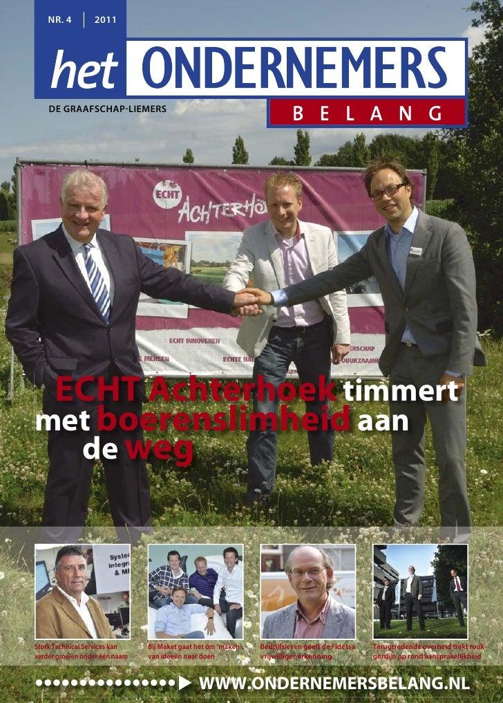 NR. 4         2011    DE GRAAFSCHAP LIEMERS ECHT Achterhoek timmertmet boerenslimheid aan  de wegStork Technical Services ...