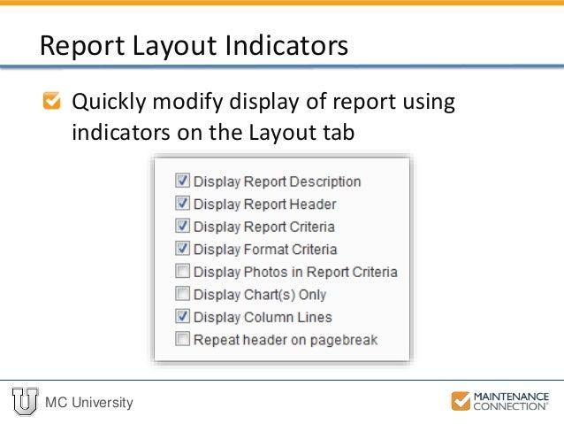 R04 - Basics of Reporting: Report Setup (Part 2) (MCU)