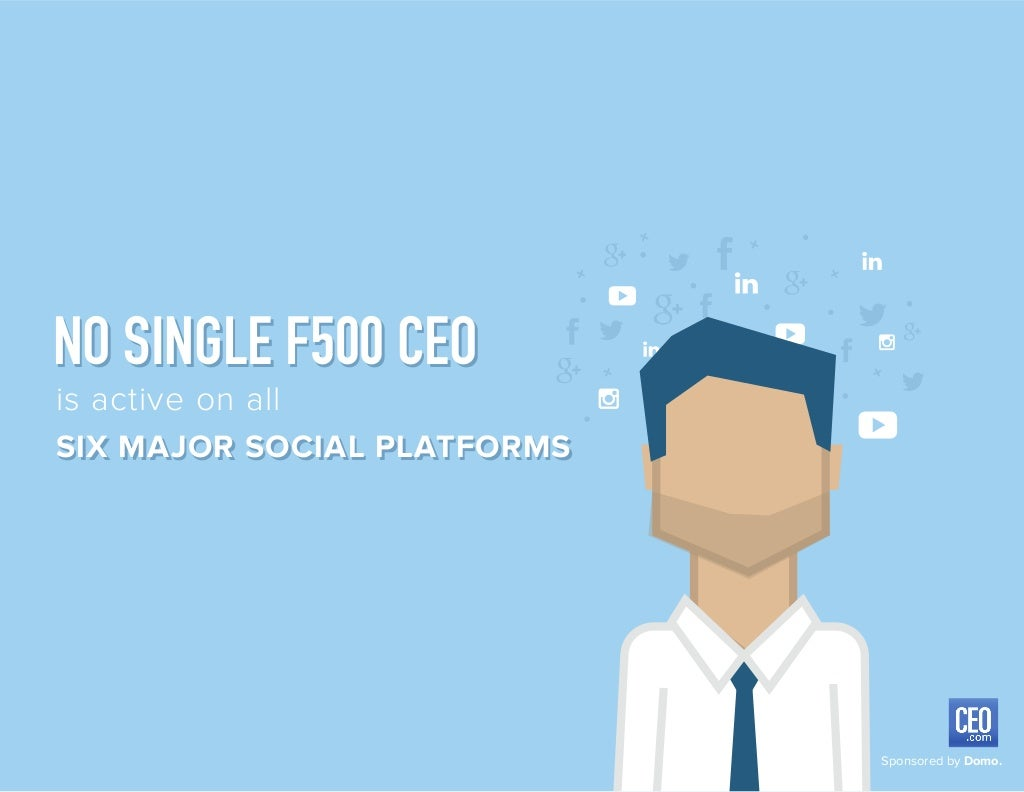 In 2015, no Fortune 500 CEO is active across ever social channel.