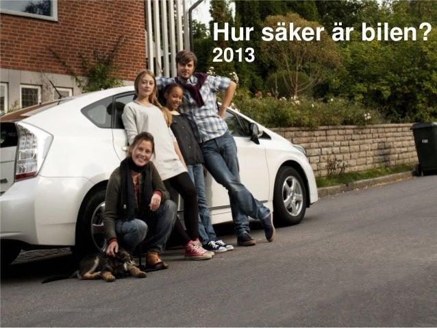 1 Titel på presentationen 2013-09-03 Hur säker är bilen? 2011 Hur säker är bilen? 2013 1 Titel på presentationen 2013-09-03