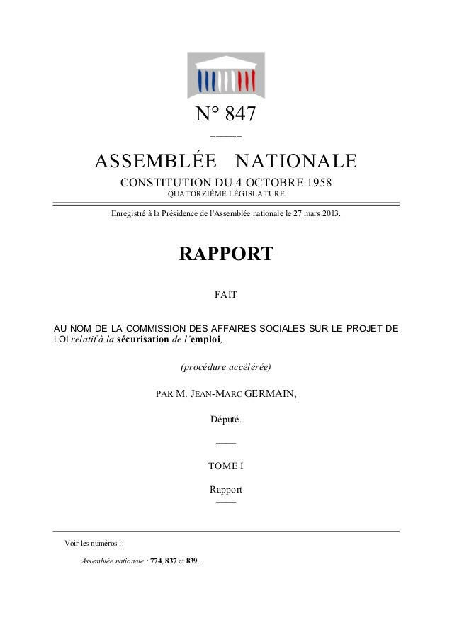 N° 847                                               ______          ASSEMBLÉE NATIONALE                  CONSTITUTION DU ...