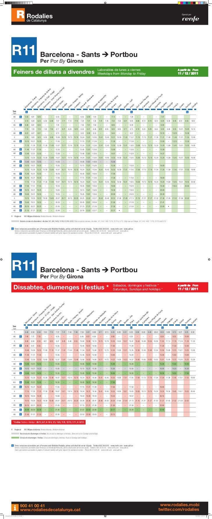 Horaris r11 barcelona girona portbou for Horario bricomart sabadell