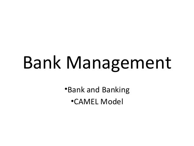 Bank Management •Bank and Banking •CAMEL Model