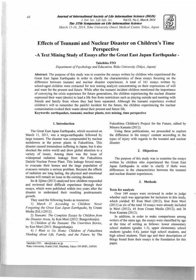 tsunami article