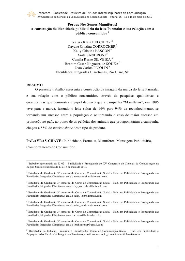 Intercom – Sociedade Brasileira de Estudos Interdisciplinares da Comunicação         XV Congresso de Ciências da Comunicaç...