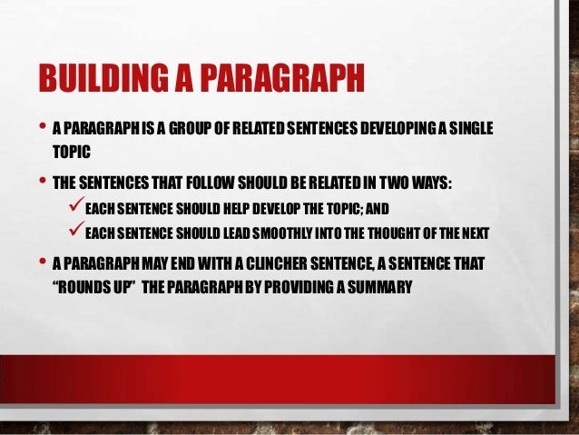 how to write a paragraph for esl students
