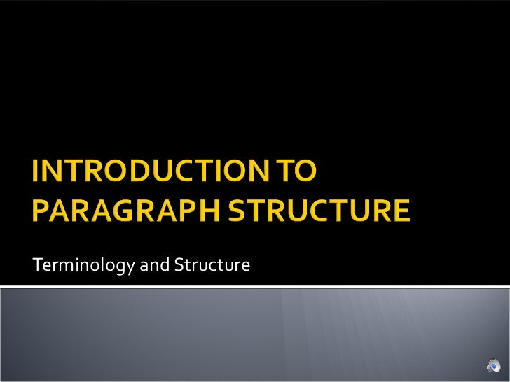 Terminology and Structure