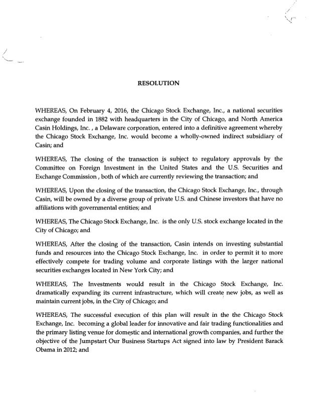 chicago city council letter in support of the acquisition