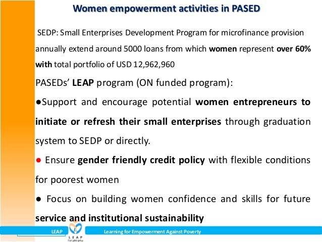 GALS as an empowering process for the poorest women Evidence and imp…