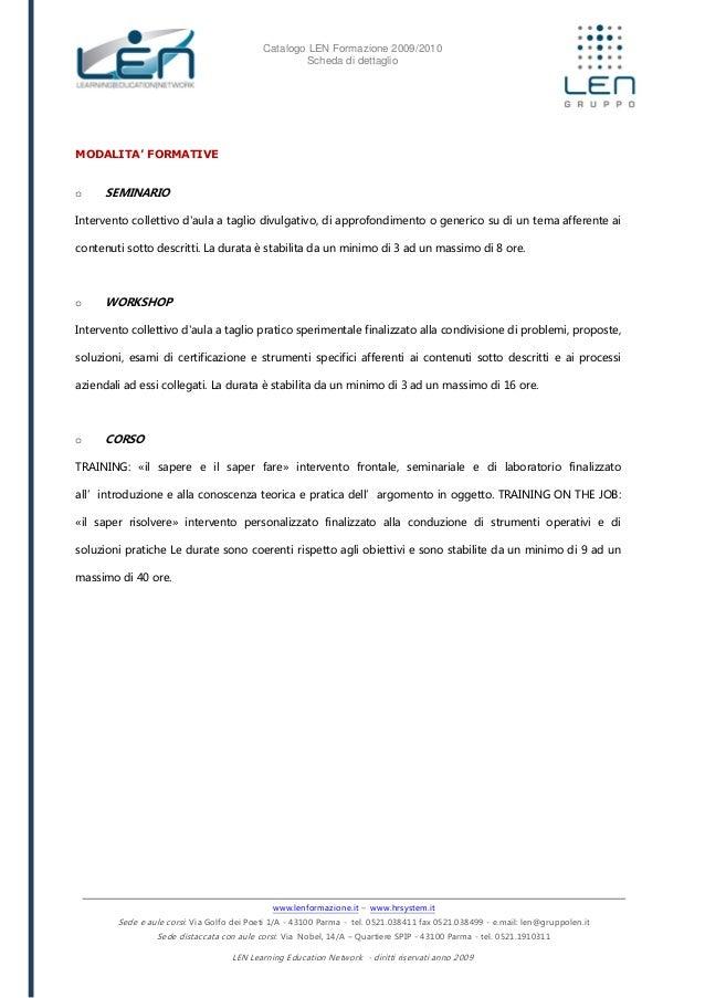 La PNL per vendere - Scheda corso LEN Slide 2