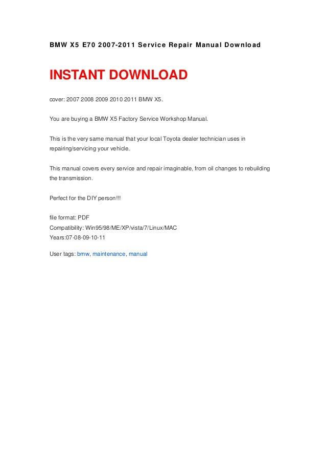 bmw x5 e70 2007 2011 manual download