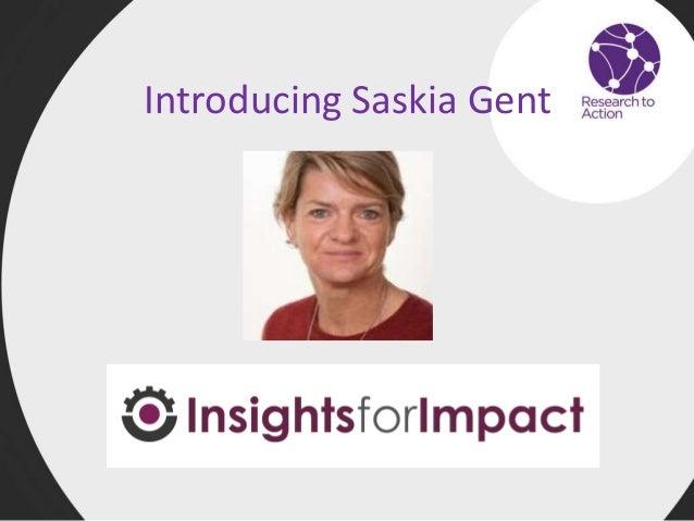 Introducing Saskia Gent