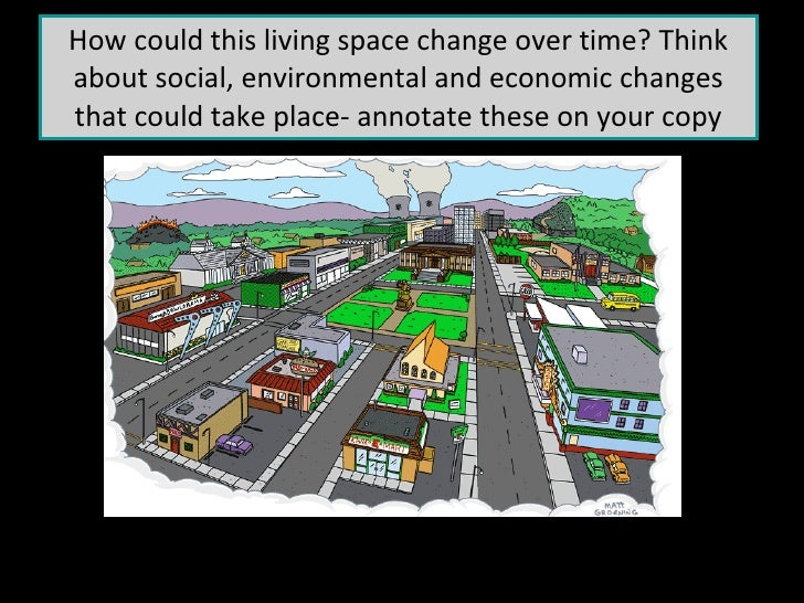 How could this living space change over time? Think about social, environmental and economic changes that could take place...