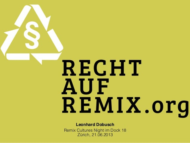 Leonhard DobuschRemix Cultures Night im Dock 18Zürich, 21.06.2013