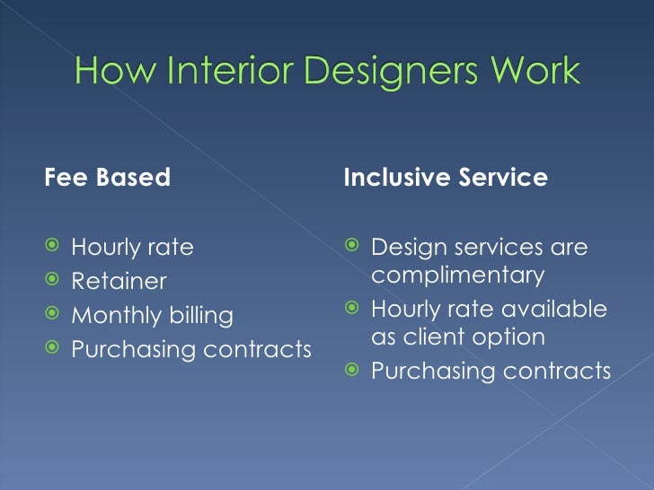 R2r meeting 22 ppt for Hourly rate for interior design services
