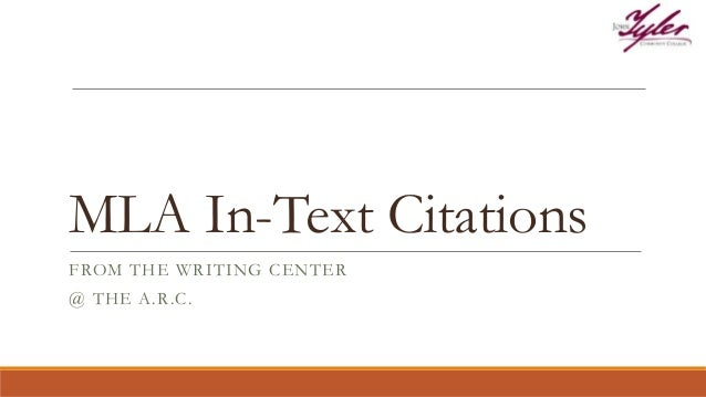 mla cite in text