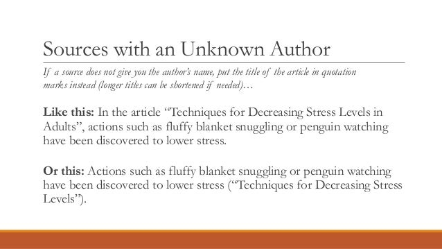 How to Add an Article Title Into the Text Using APA Format