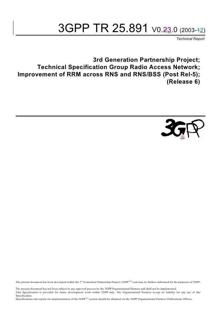 3GPP TR 25.891 V0.23.0 (2003-12)                                                                                          ...