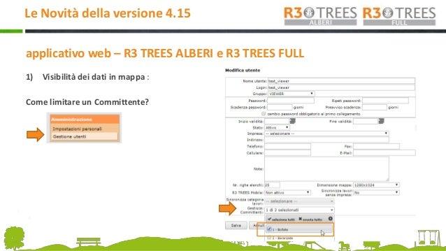 R3 TREES USER MEETING - Le novità della versione 4.15 Slide 3