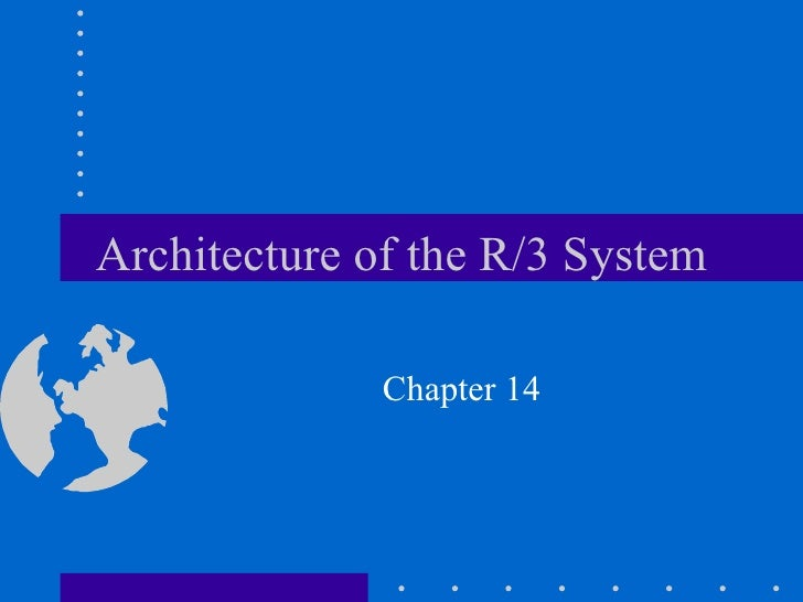 Architecture of the R/3 System              Chapter 14