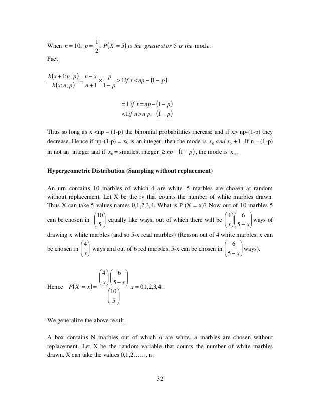 R4 M S Radhakrishnan Probability Amp Statistics Dlpd Notes