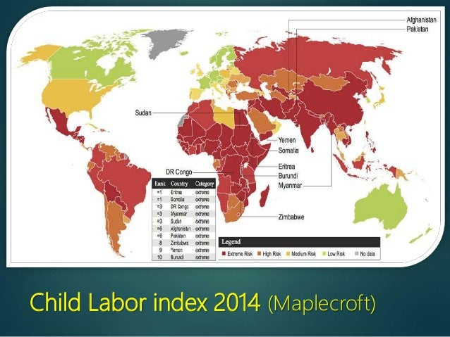 Child labour child labor index 2014 maplecroft gumiabroncs Images