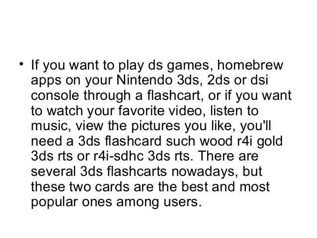 R4i gold 3ds vs r4i sdhc 3 ds rts, which to buy