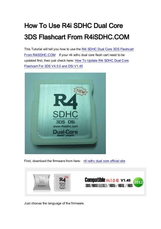 R4i sdhc dual core user guide