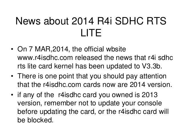 Step by Step to use 2014 R4i sdhc rts lite for 3ds v7 1 0 16