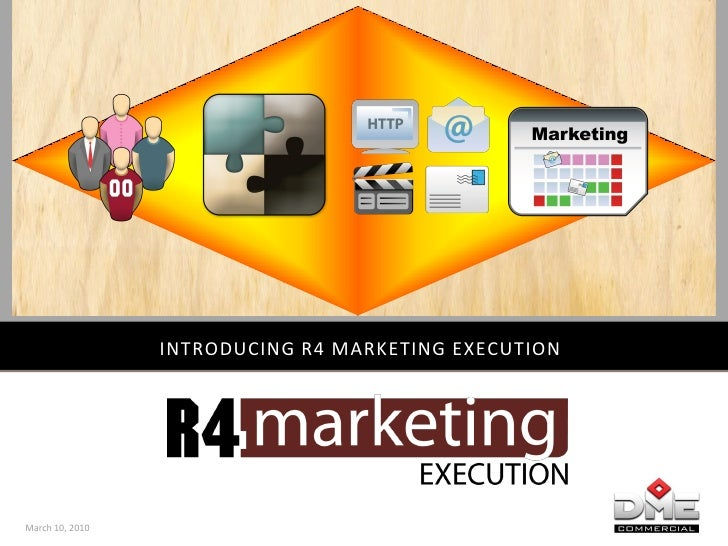 INTRODUCING R4 MARKETING EXECUTION     March 10, 2010
