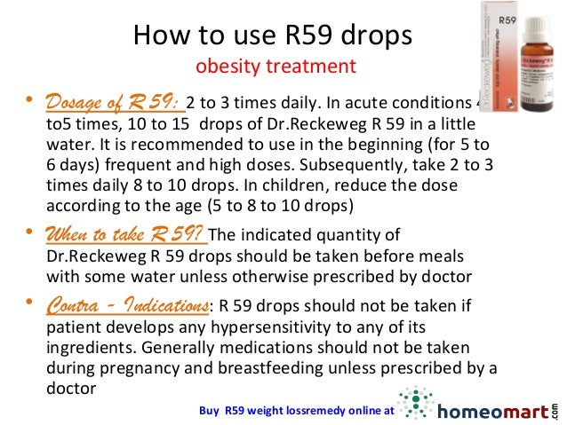 R59 - Dr Reckeweg Weight loss drops for obesity treatment