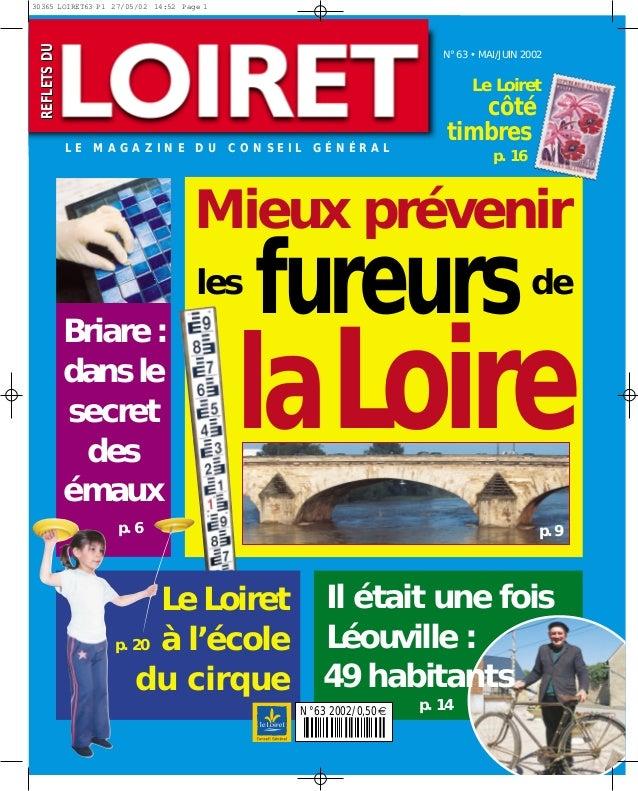 REFLETSDUREFLETSDU laLoire fureurs Mieux prévenir deles Il était une fois Léouville : N°63 2002/0,50€ 49 habitants p. 14 p...