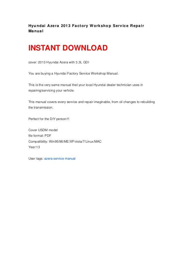 hyundai azera 2013 manual rh pt slideshare net