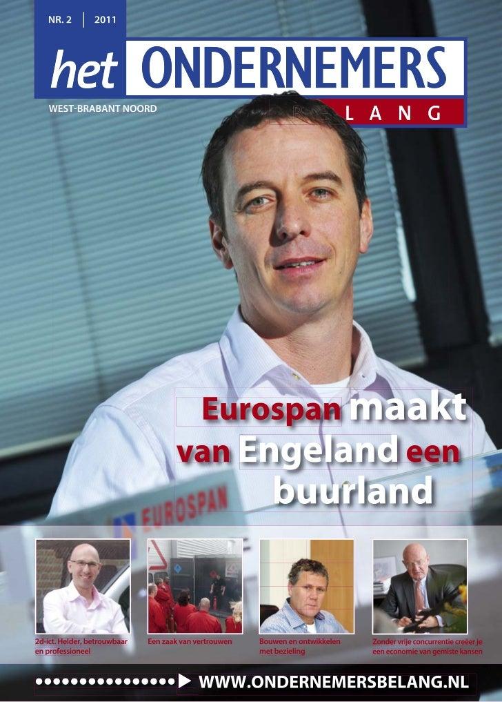 NR. 2         2011    WEST BRABANT NOORD                                      Eurospan maakt                              ...