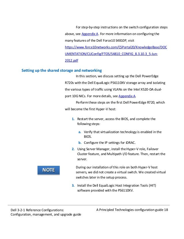 Dell 3-2-1 Reference Configurations: Configuration