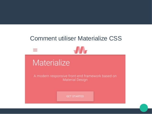 Comment utiliser Materialize CSS