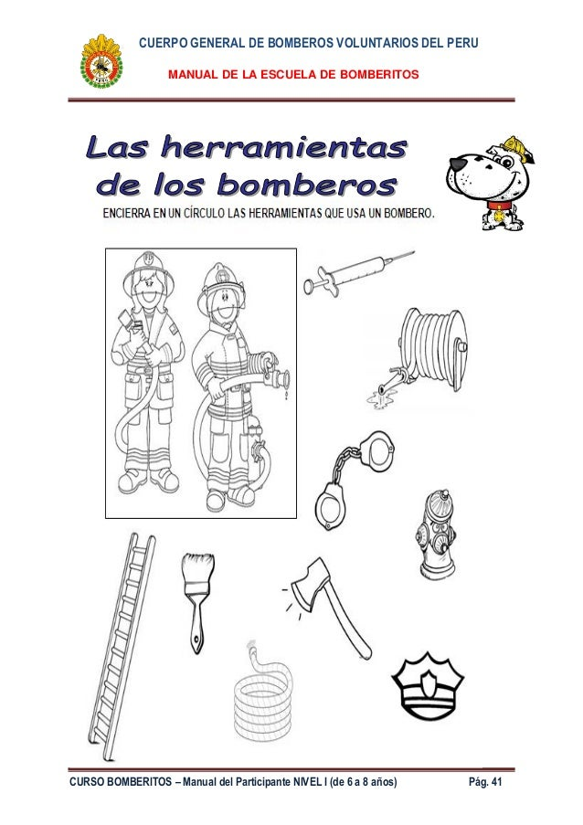 Manual bomberitos 2014  nivel I de 6  8 aos
