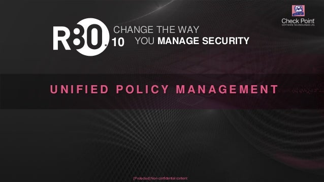 Check Point Infinity powered by R80 10