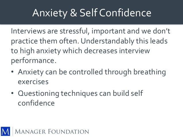 ... Interview Better; 22. Anxiety U0026 Self Confidence Interviews ...