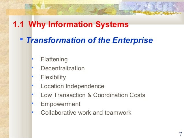 management information systems obrien chapter 7 ppt