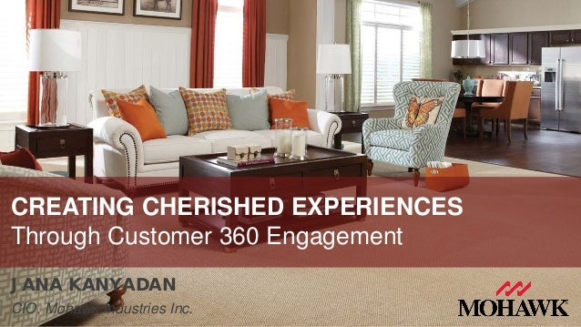 JANA KANYADAN CIO, Mohawk Industries Inc. CREATING CHERISHED EXPERIENCES Through Customer 360 Engagement