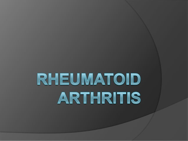 DEFINITION  Rheumatoid arthritis is a chronic inflammatory disorder that typically affects the small joints in your hands...