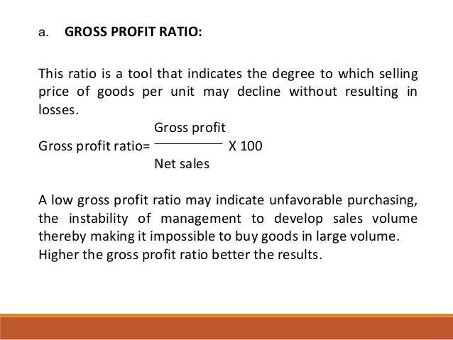 gross profit ratio - DriverLayer Search Engine