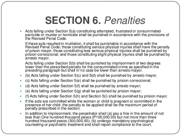 ra 9262 penalty