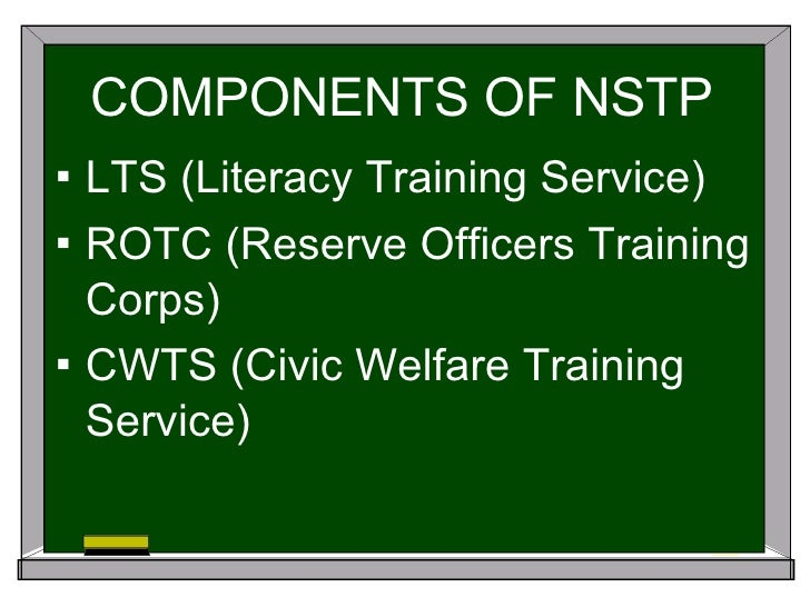 nstp lts Nsrc is created under section 11 of ra 9163 or the nstp act of 2001, composed of graduates of the non-rotc components: the cwts and lts members of this corps maybe tapped by the state for literacy and civic welfare activities, through the joint efforts of dnd, ched and tesda.