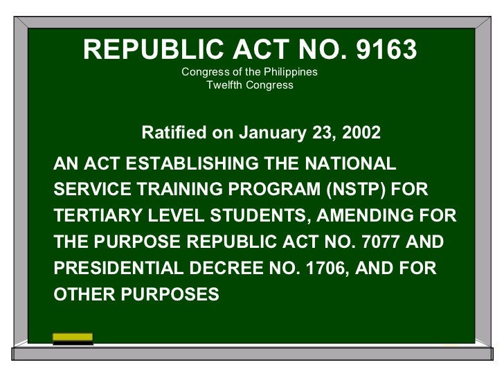 republic act 1963 nstp Name: industrial accident compensation insurance act (no 1438 of 1963) country: korea, republic of: subject(s): employment accident and occupational disease benefit.