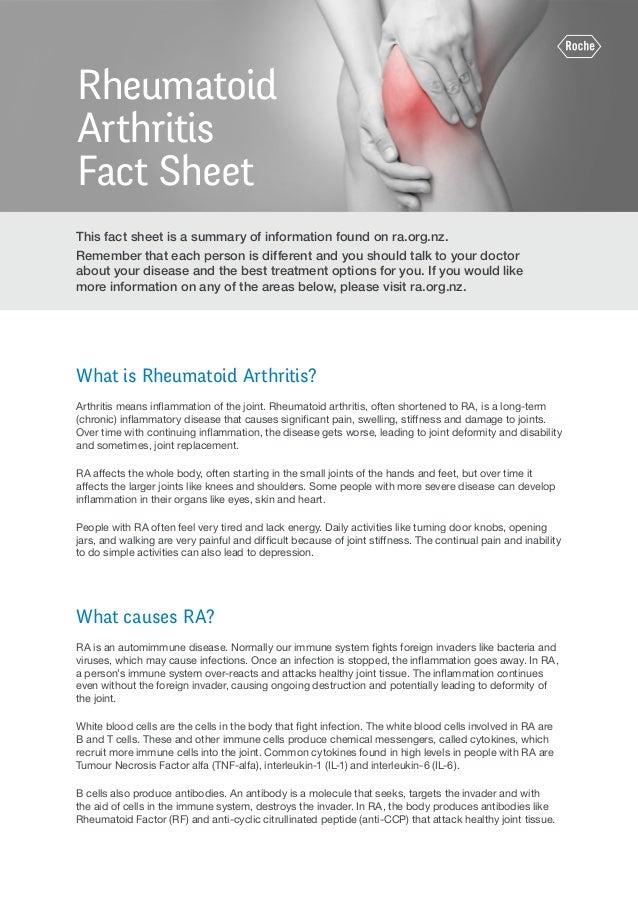 Rheumatoid Arthritis Fact Sheet