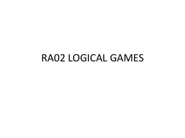RA02 LOGICAL GAMES